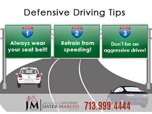 Defensive driving | Attorney Javier Marcos | 713.999.4444