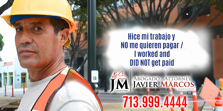 Construction Liens | Attorney Javier Marcos | 713.999.4444